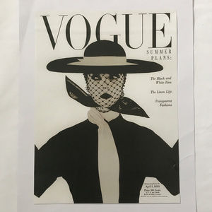 Other - Vogue Cover 1950 Glam Decor Fashion Wall Art